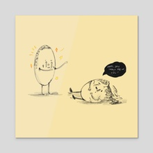 Egg Bros - Acrylic by Jamie Manzano