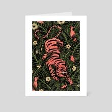 Jungle Cat - Art Card by Evangeline Gallagher