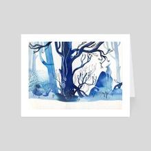 Winter Rabbit - Art Card by Faryn Hughes
