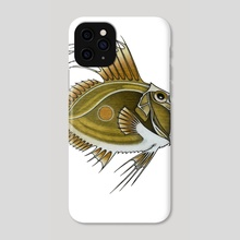 Green Fish - Phone Case by Adam Lindsay Honsinger