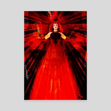Witch that is kind of scarlet. - Canvas by Szymon Wajner