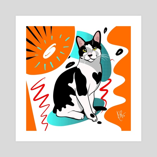 Cat Portrait 05 by Anuradha Grover