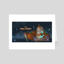 Tomb Pumpkin - Art Card by Asanee Srikijvilaikul