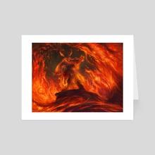 MTG: Volcanic Vision - Art Card by Liiga Smilshkalne