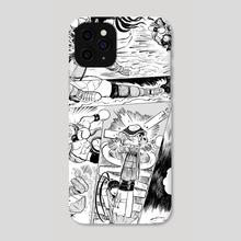 Ibuki vs Balrog page-1 - Phone Case by GEORGE SCHALL