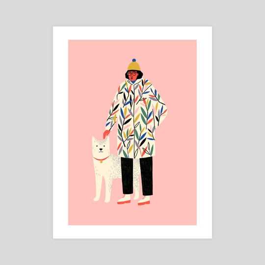 Girl with Dog  by Abbey Lossing