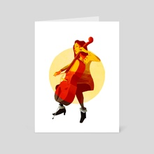 Cello - Art Card by Kristian Duffy