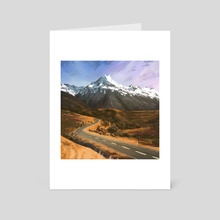 Landscape of New Zealand - Art Card by Kimberly CANDEL