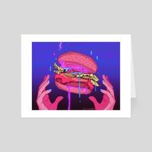 BURGER 2.0 - Art Card by Liz Lathem