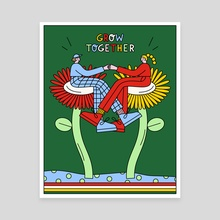 Grow Together - Canvas by Sam Twardy