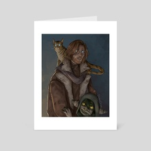 Caleb, Frumpkin and Nott - Art Card by Dagna