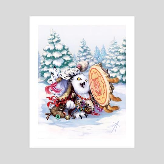 owl Siberian shaman by Vladimir Arzevitin