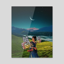 For GiveIndia. - Acrylic by Sadie Birchfield Whywake Creative.