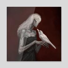 Old Bird - Acrylic by Asya Yordanova