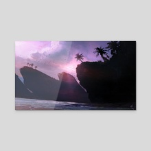 Morning in Paradise  - Acrylic by Joseph Feely