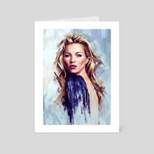 Kate Moss - Art Card by Dmitry Belov