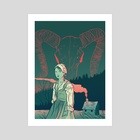 The Witch - Art Print by Tom Humberstone
