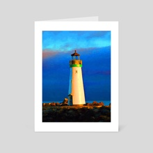 Walton Lighthouse - Art Card by Tom Carlos