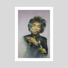 Jimi Hendrix - Art Print by Wout de Zeeuw