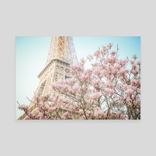Eiffel Tower in Spring - Canvas by Karina L