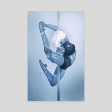 Runic Dove - Canvas by Christina Barton