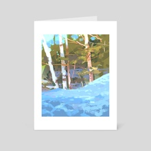 The Woods - Art Card by Carolyn Arcabascio
