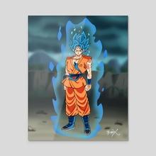 Super Saiyan God Blue Goku (Resurrection 'F') - Acrylic by Ty'ren Lawrence