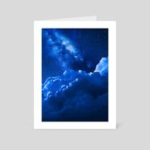 BLUE DREAM  - Art Card by Mohamed Nemr