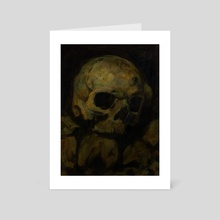 Skull Study Original Painting - Art Card by Guy Gondron