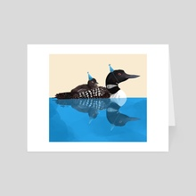 Party Loons - Art Card by Isabel Hughes