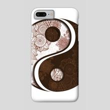 Mandala - Yang Yin - Phone Case by Alexandre Ibáñez