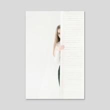 White stripe II - Acrylic by Inna Mosina
