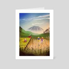 Travel series - Lombok - Art Card by Josie's Illustrations