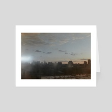 untitled skyline - Art Card by Max Martus