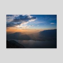 Lake Como sunset - Canvas by Adam Dore