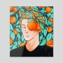 Oranges for Nanami - Acrylic by nicahls