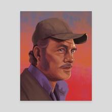 Quint Portrait - Jaws - Canvas by Dillon Nelson