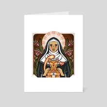 St. Gertrude - Art Card by Anuradha Grover