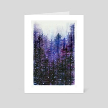 Winter Forest - Art Card by Alla Art