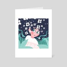 Head in the Flowers - Art Card by Bee