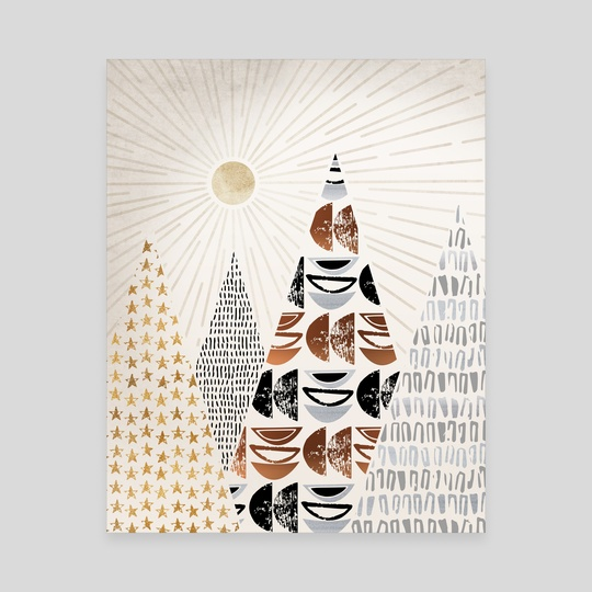 All The Magical Mountains Collage by Modern Tropical