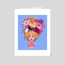 Wonder girl - Art Card by Yun Furano