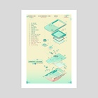 Gameboy Colour Blue - Art Print by Jessica Cheng