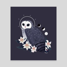 Familiar: Sooty Owl - Canvas by Reimena Yee