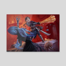 Improvised Weaponry   Magic: the Gathering   Adventures in the Forgotten Realms - Acrylic by Alix Branwyn