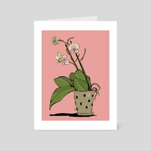 Orchid - Art Card by Emily Oliver