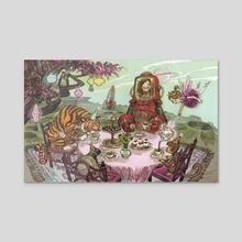 Fantasy Tea Party - Acrylic by Jessica Warrick