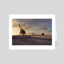 Giraffe  - Art Card by Kamin Jaroensuk
