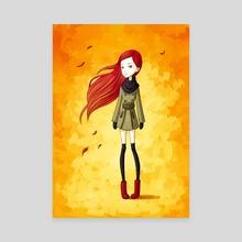 Autumn Breeze - Canvas by Indré Bankauskaité