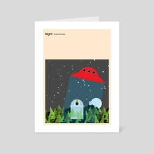 Simple Life: Sky At Night - Art Card by Simon C Page